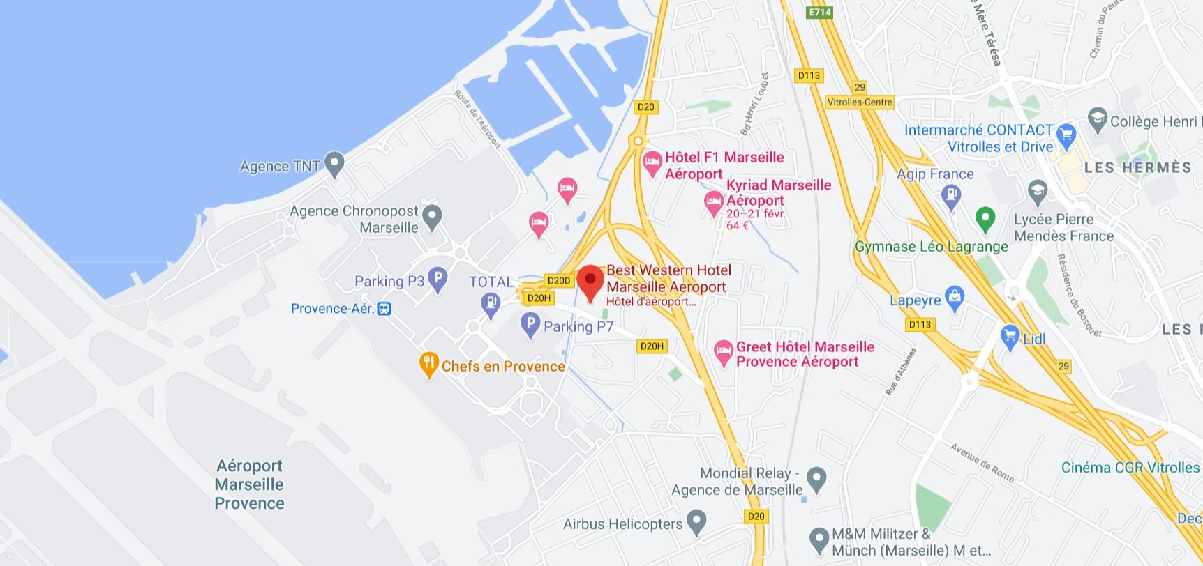 Venir récupérer la commande - Best Western Marseille Aéroport